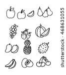 fruit icons. vector... | Shutterstock .eps vector #468631055