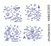 icon set   illustrations in a... | Shutterstock .eps vector #468631505