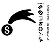 lucky money icon with bonus...   Shutterstock .eps vector #468635501