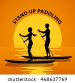 man and woman do stand up... | Shutterstock .eps vector #468637769