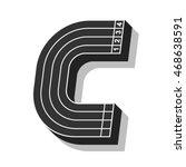 sport font  letter c  running... | Shutterstock .eps vector #468638591