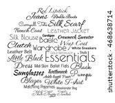 basic women's wardrobe ... | Shutterstock .eps vector #468638714