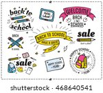 back to school quotes catchword ... | Shutterstock .eps vector #468640541