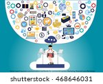 vector search business... | Shutterstock .eps vector #468646031