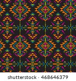 colorful ethnic seamless... | Shutterstock .eps vector #468646379