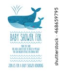 cute baby shower card design....   Shutterstock .eps vector #468659795