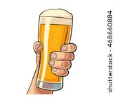 male hand holding a beer glass. ... | Shutterstock .eps vector #468660884