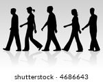 march of people   vectors work | Shutterstock .eps vector #4686643