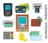 money  atm   cash machine... | Shutterstock .eps vector #468665651