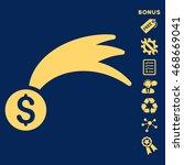 lucky money icon with bonus...   Shutterstock .eps vector #468669041