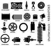 car part icons vector style. | Shutterstock .eps vector #468669365