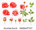 watercolor painting... | Shutterstock . vector #468669767