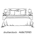 bedroom modern interior sketch. ... | Shutterstock .eps vector #468670985