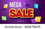 sale  sale banner  mega sale ... | Shutterstock .eps vector #468678635