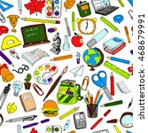colorful school  pattern.... | Shutterstock . vector #468679991