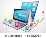 the process of education.... | Shutterstock .eps vector #468682064