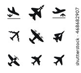 airplane vector icons. simple...