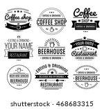 black logo. coffee shop... | Shutterstock .eps vector #468683315