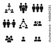 group vector icons. simple... | Shutterstock .eps vector #468684281