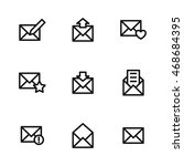 mail vector icons. simple...