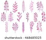 set of different watercolor... | Shutterstock . vector #468685025