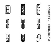 link vector icons. simple...