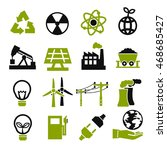 power eco icon set | Shutterstock .eps vector #468685427