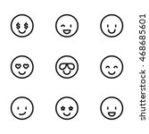 emotion vector icons. simple...