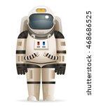 cosmonaut realistic astronaut... | Shutterstock .eps vector #468686525