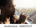 attractive young dark skinned... | Shutterstock . vector #468693119