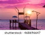 Nightfall By The Sea Jetty To...