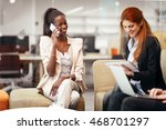 business people conversation... | Shutterstock . vector #468701297