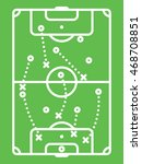 football   soccer tactic table. ... | Shutterstock .eps vector #468708851