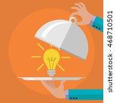 serving an idea on a platter... | Shutterstock .eps vector #468710501