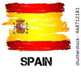 flag of spain from brush... | Shutterstock .eps vector #468712181