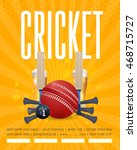 cricket event poster template... | Shutterstock .eps vector #468715727