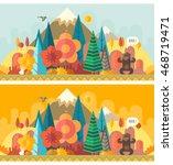 forest   autumn | Shutterstock .eps vector #468719471