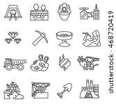 mining industry icons set.... | Shutterstock .eps vector #468720419