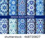 indigo blue kaleidoscopic...   Shutterstock .eps vector #468720827