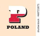 vector letter p logo design for ... | Shutterstock .eps vector #468721871