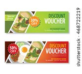discount voucher template with... | Shutterstock .eps vector #468722219