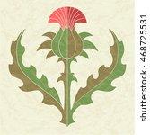 decorative thistle  floral...   Shutterstock .eps vector #468725531