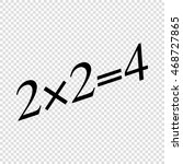 simple mathematical equation.... | Shutterstock .eps vector #468727865