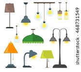 Set Of Lamps. Furniture And...