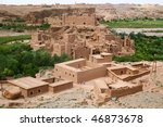 moroccan village in the... | Shutterstock . vector #46873678