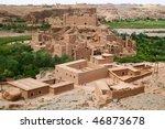 moroccan village in the... | Shutterstock . vector #46873678