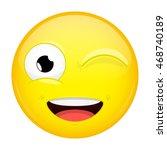Wink Emoji. Smile Emotion....