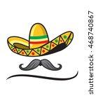 sombrero mustache | Shutterstock .eps vector #468740867