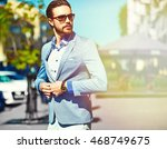 high fashion look.young stylish ... | Shutterstock . vector #468749675
