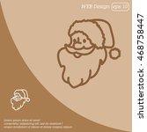 web line icon. santa claus | Shutterstock .eps vector #468758447